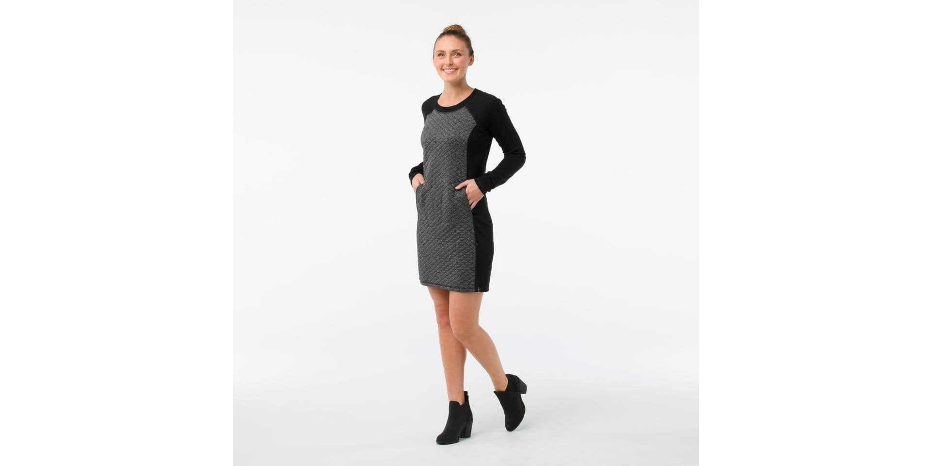Smartwool Diamond Peak Quilted Dress, Black Heather