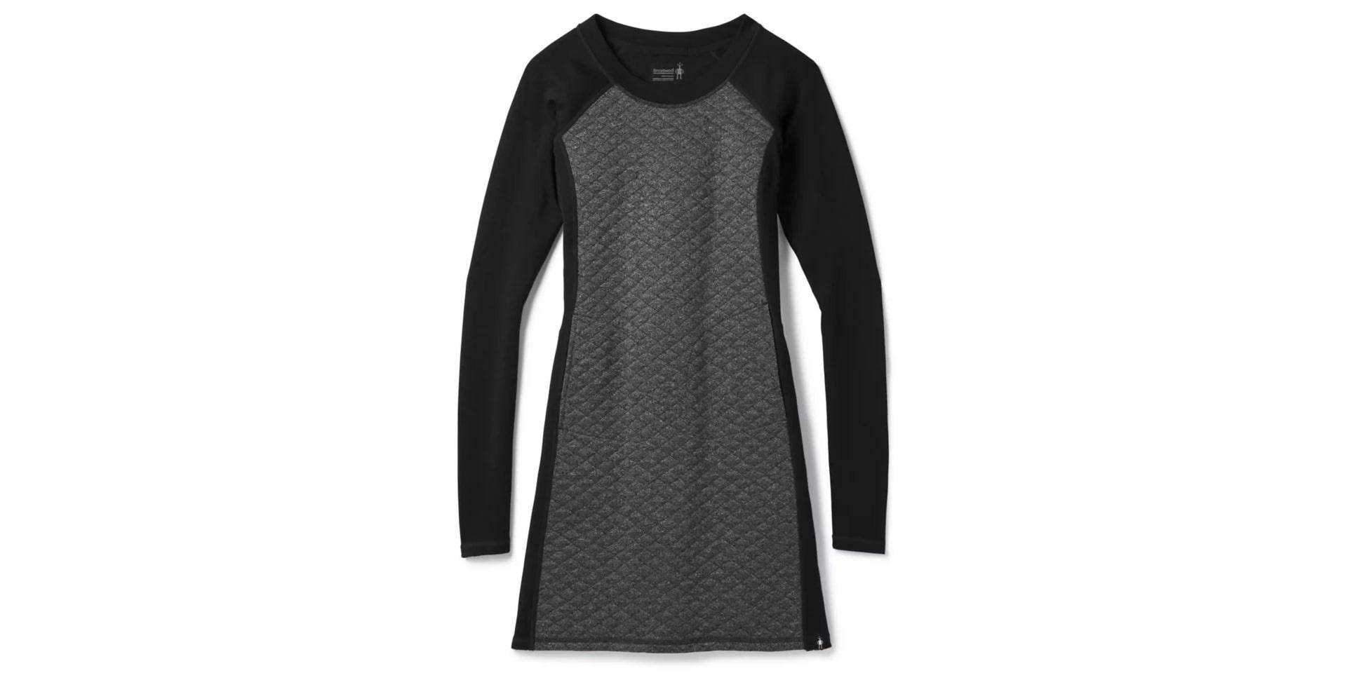 Diamond Peak Quilted Dress, Black Heather