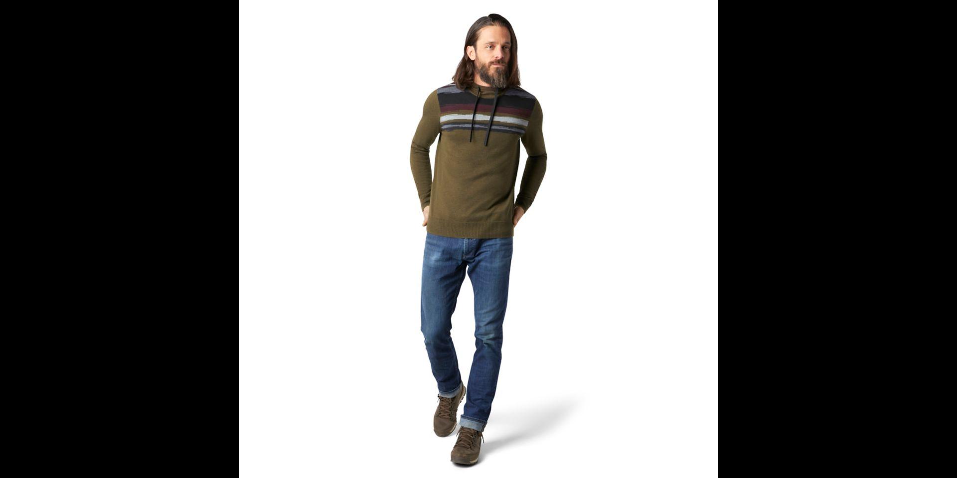 Smartwool Sparwood Hoodie Sweater, Military Olive