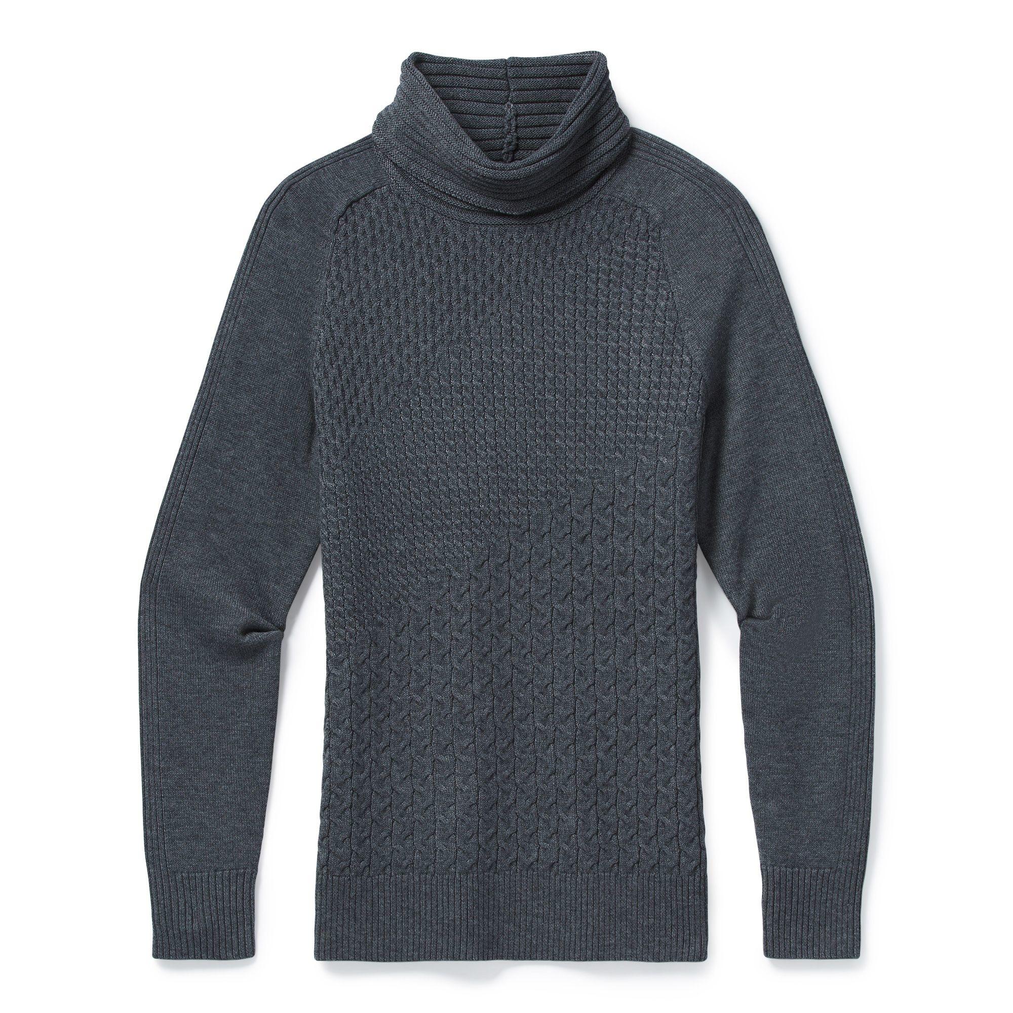 Smartwool Dacono Ski Sweater, Medium Gray