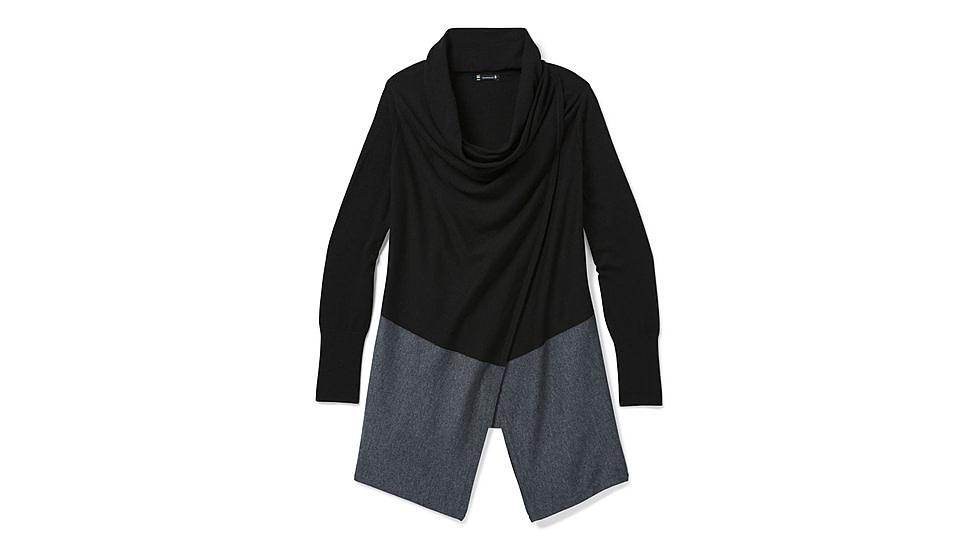 Edgewood Wrap Sweater, Black