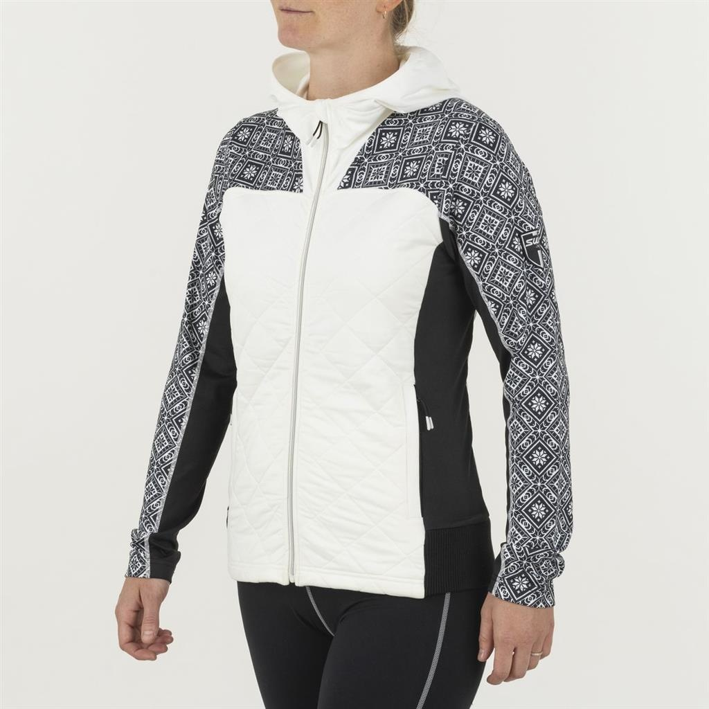 W Myrene Full Zip Quilted, Snow White