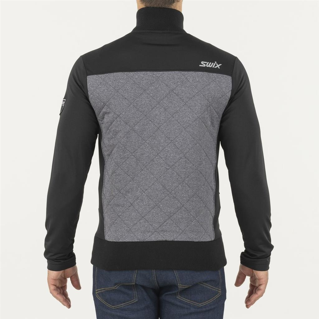 Myrene Quilted Full Zip, Charcoal