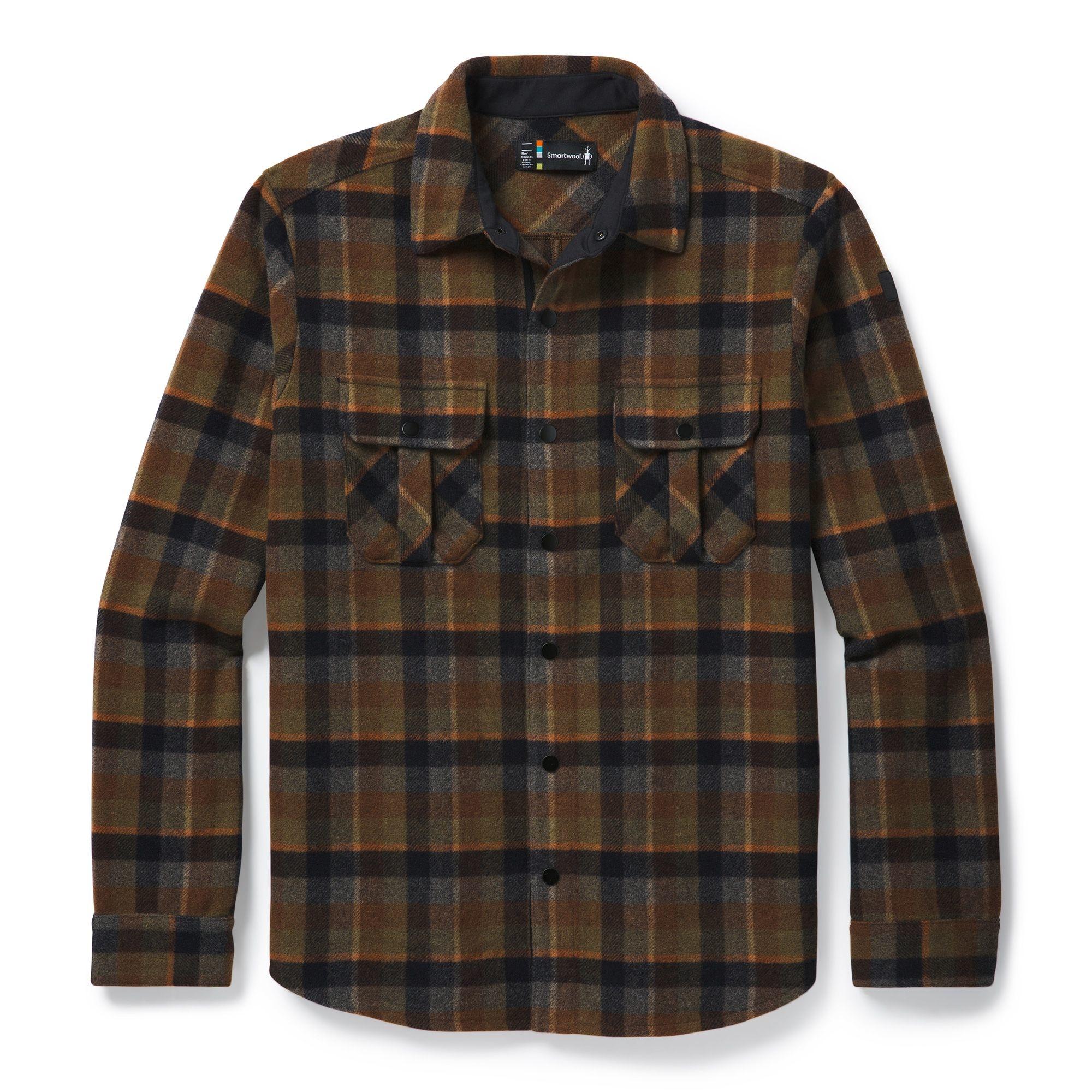 Anchor Line Shirt Jacket, OLIVE PLAID