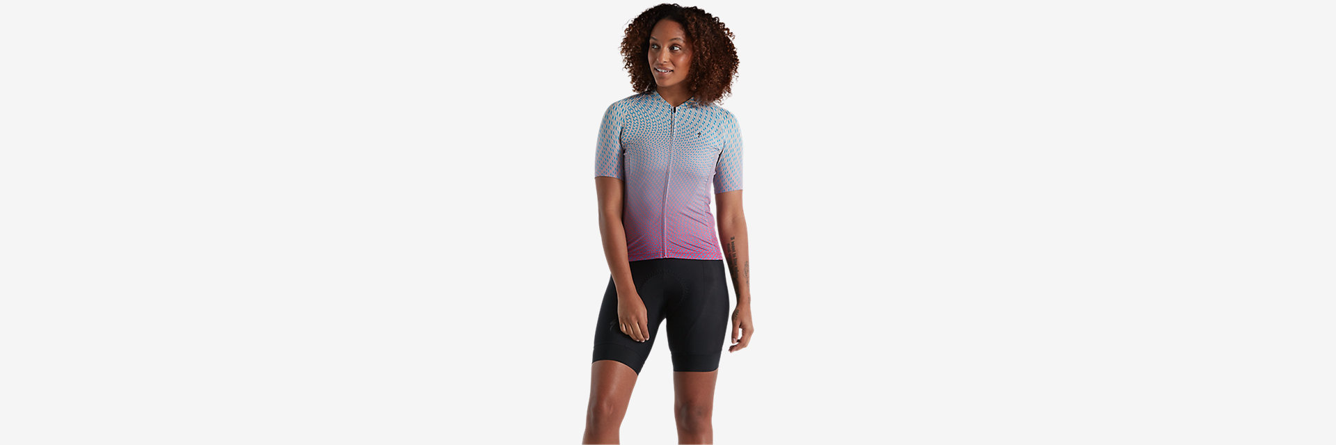 W SL Bicycledelics Jersey, Iced Papaya
