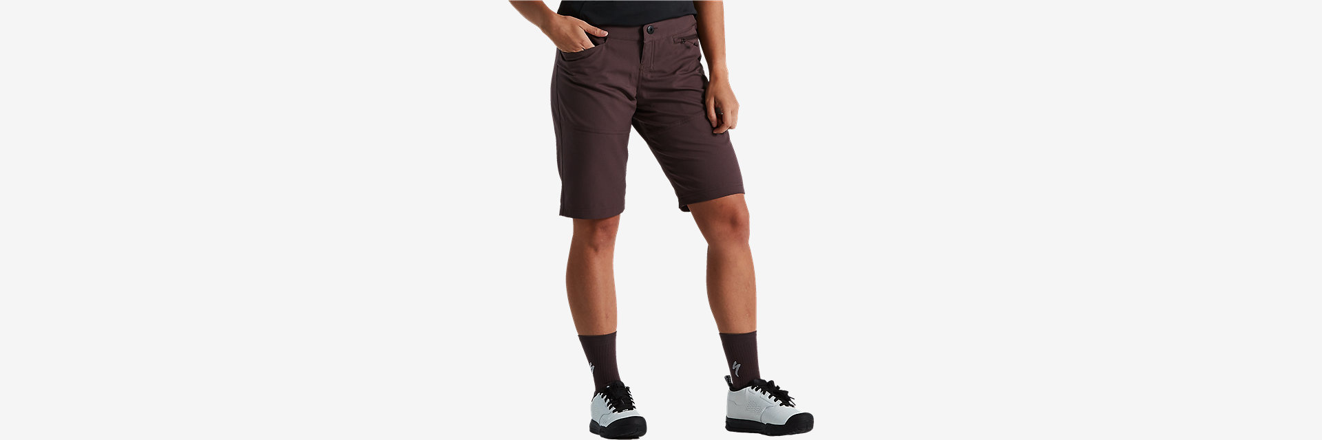 W Trail Short With Liner, Umber