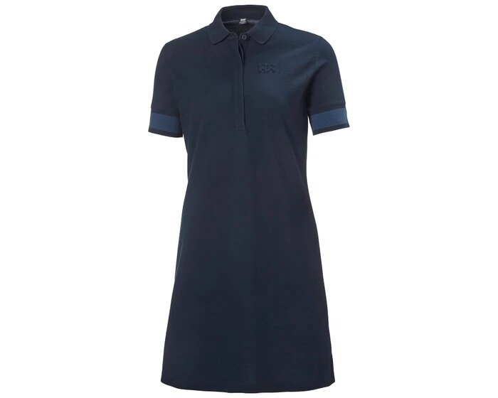 Thalia Pique Dress, Navy