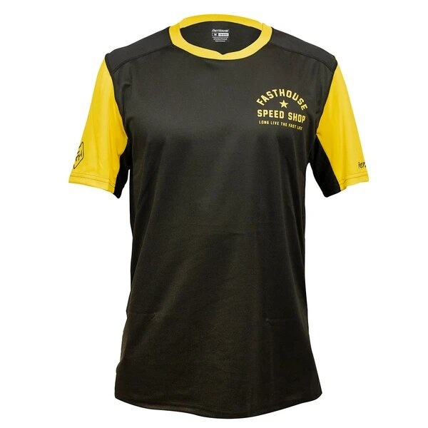 Fasthouse Alloy SS Star Jersey, Black/Gold