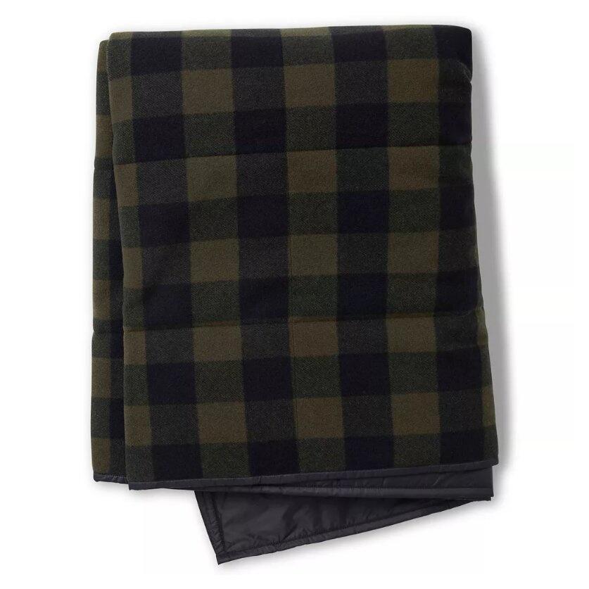 Anchor Line Blanket, Olive