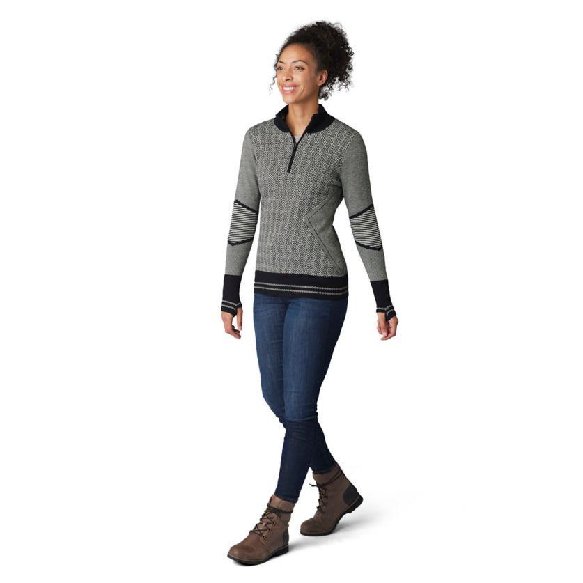 W  Dacono Half Zip Sweater, Natural Heather