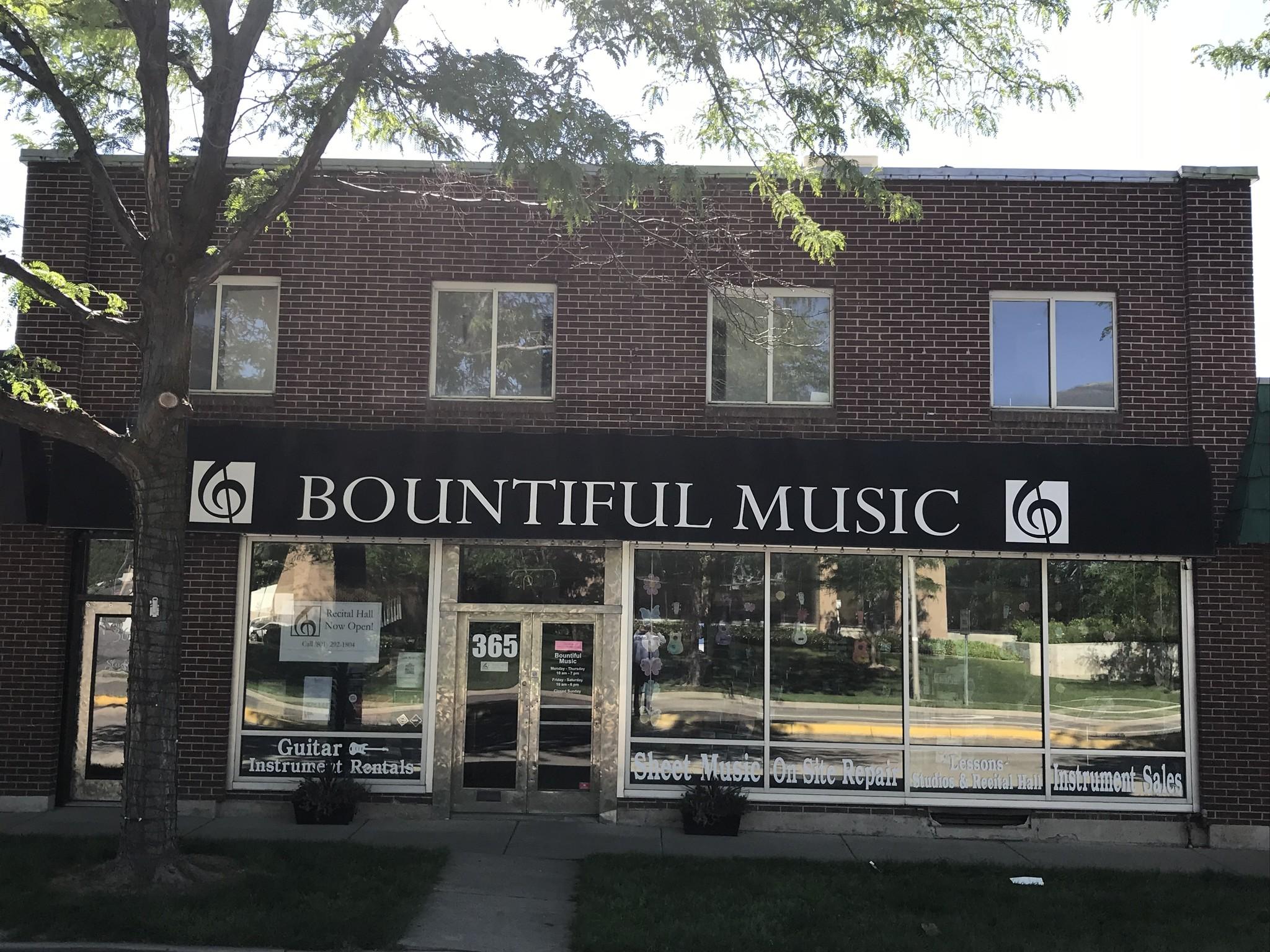 Bountiful Music - Store Outside