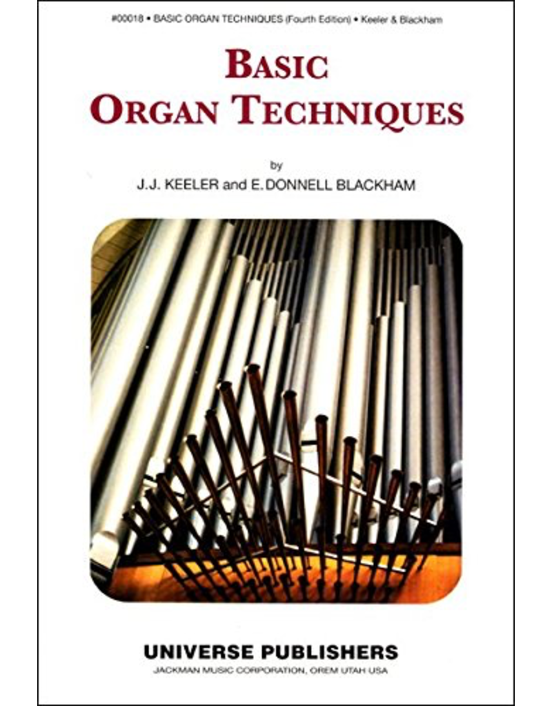 Jackman Music Basic Organ Techniques Organ Method Book by Keeler and Blackham