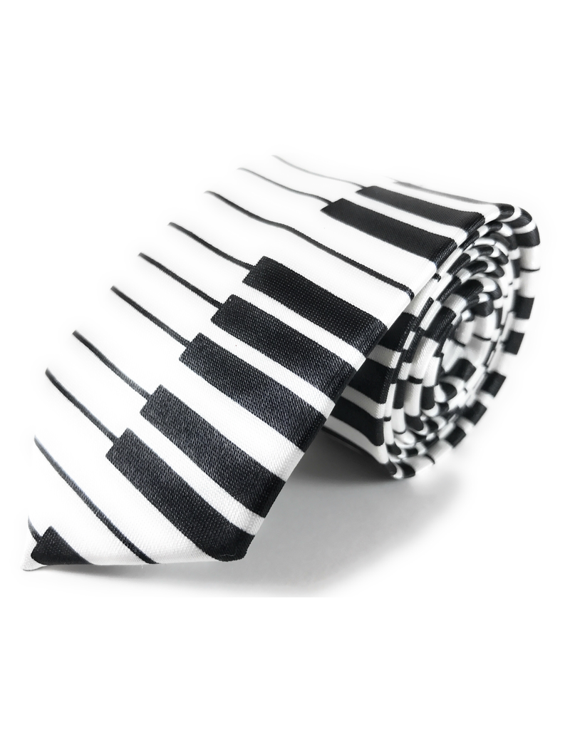 Timeless Collection Piano Keys Skinny Necktie