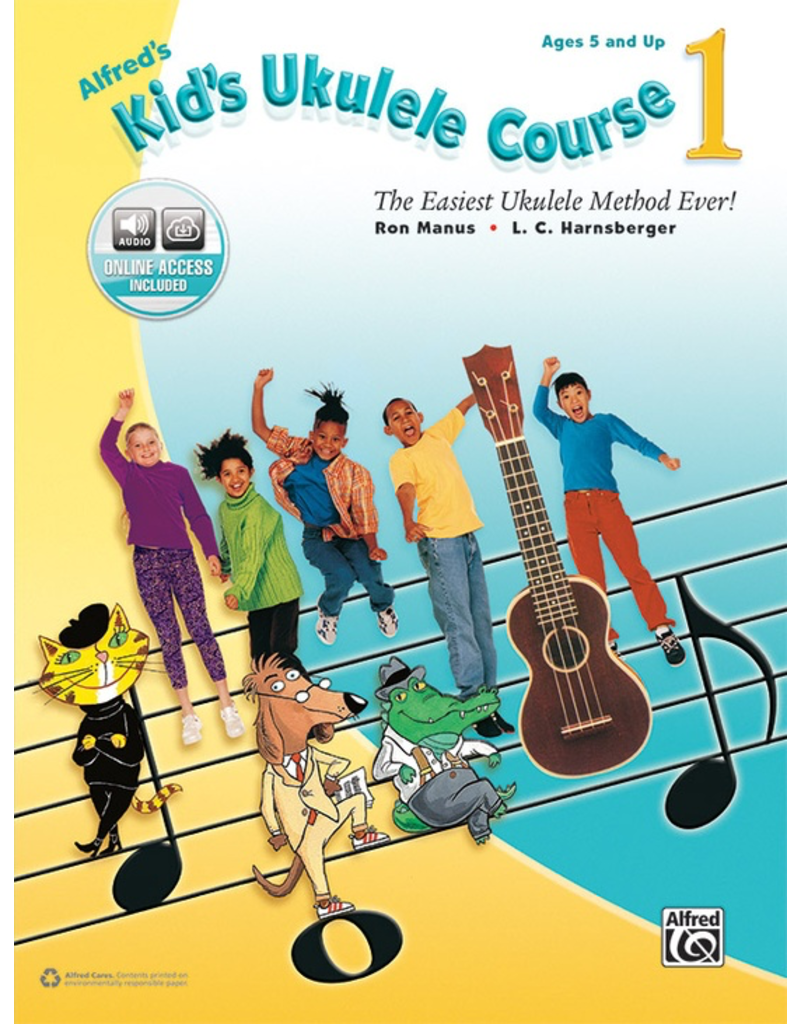 Alfred Alfred's Kid's Ukulele Course 1 Book and Online Audio