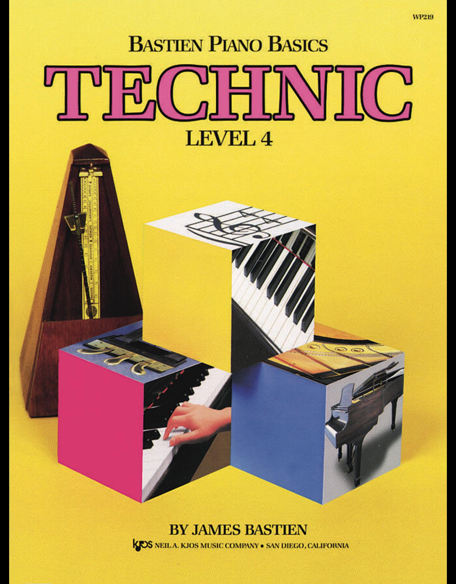 Kjos Bastien Piano Basics, Technic Level 4