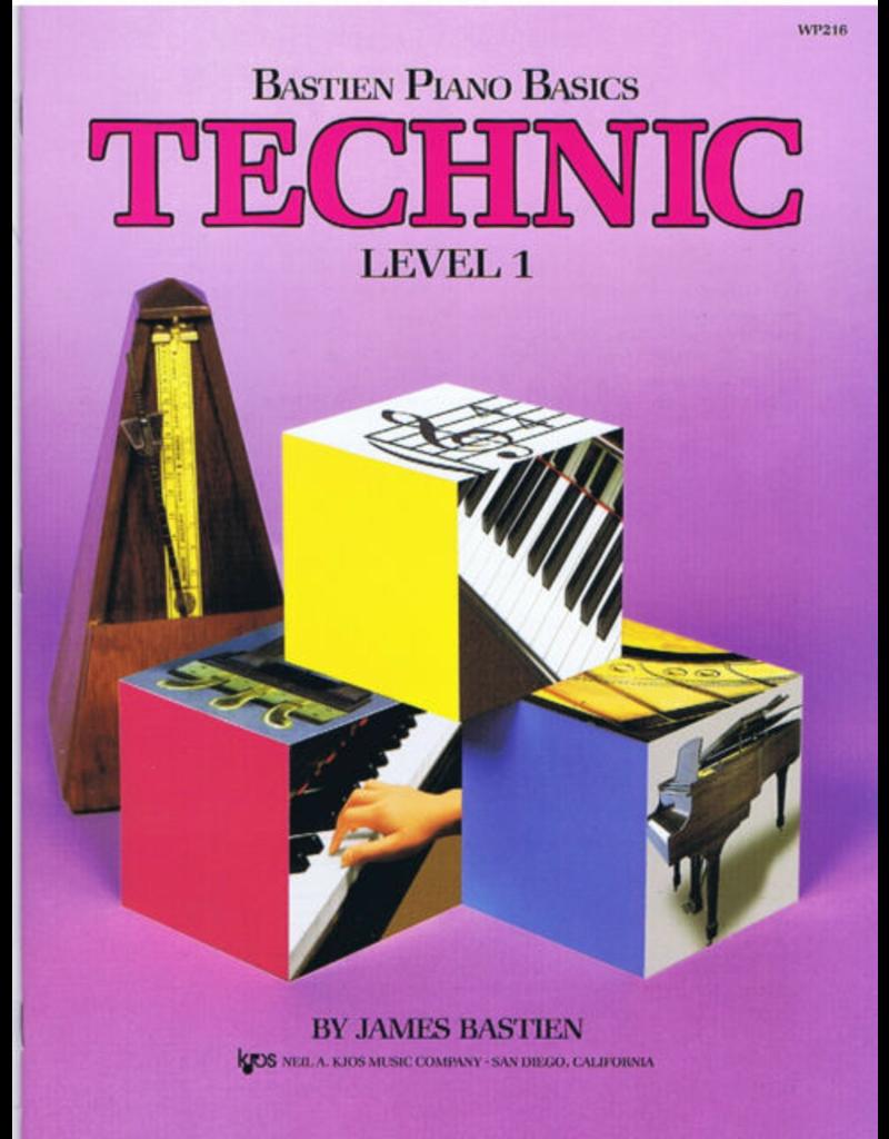 Kjos Bastien Piano Basics, Technic Level 1