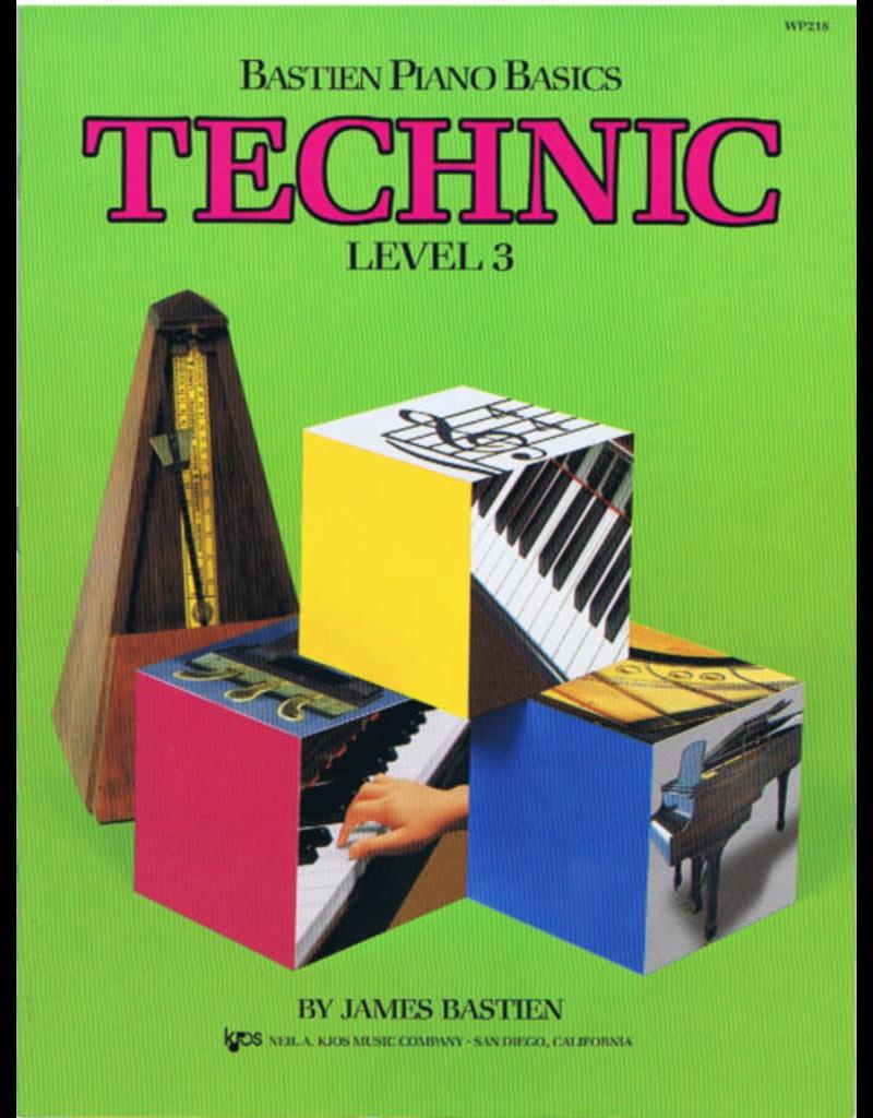 Kjos Bastien Piano Basics, Technic Level 3