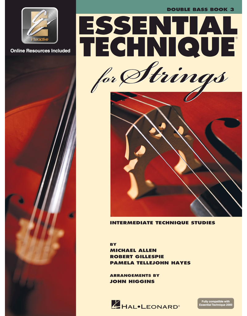 Hal Leonard Essential Technique Book 3 Double Bass