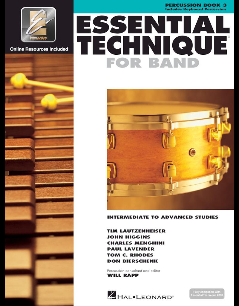 Hal Leonard Essential Technique Book 3 Percussion