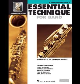 Hal Leonard Essential Technique Book 3 Bass Clarinet