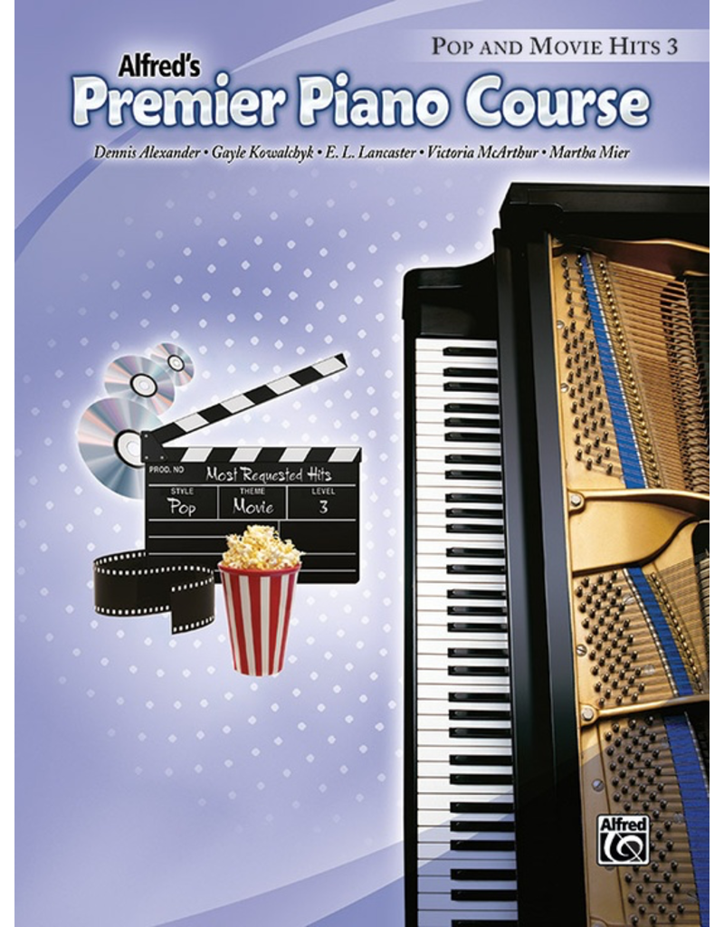 Alfred Alfred's Premier Piano Course Pop and Movie Hits, Book 3