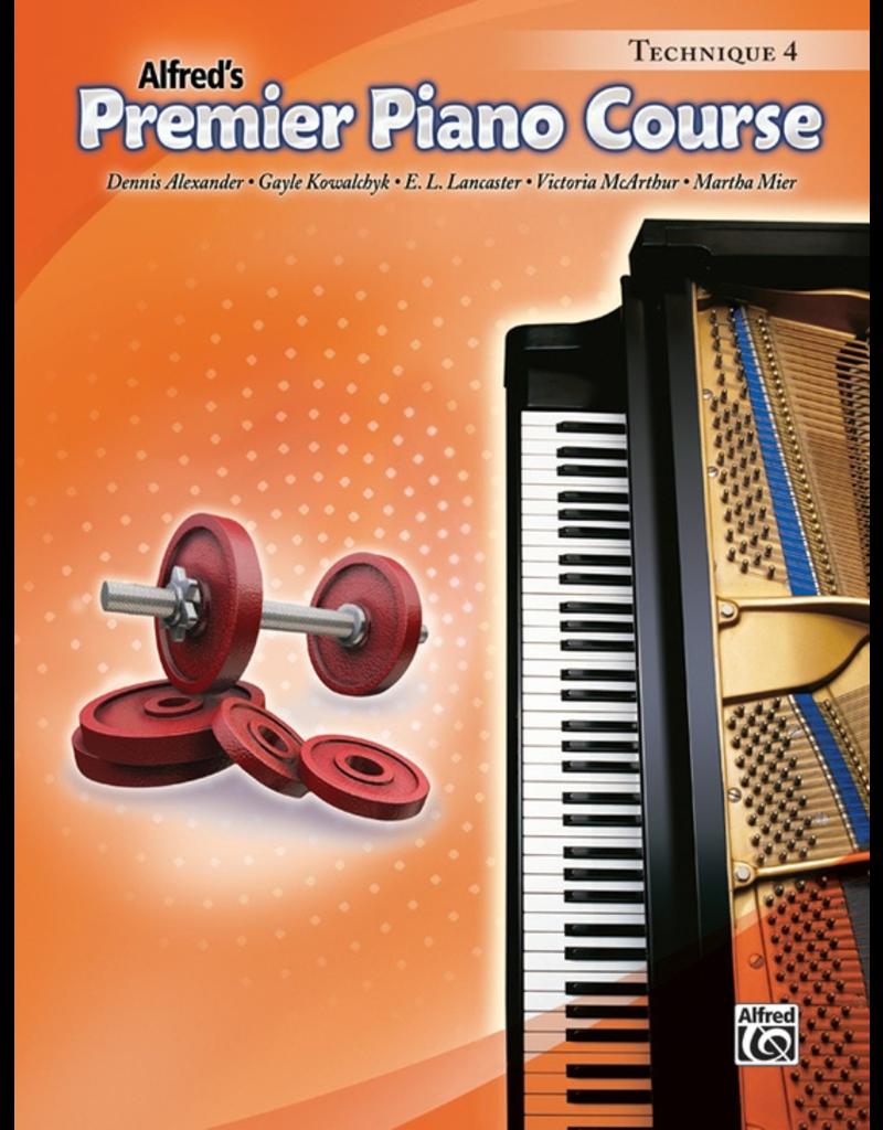 Alfred Alfred's Premier Piano Course Technique Book 4