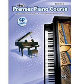 Alfred Alfred's Premier Piano Course Lesson Book 3 CD Included