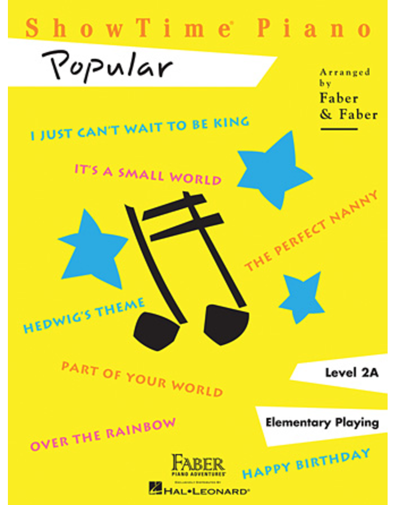 Hal Leonard ShowTime Piano Popular Level 2A