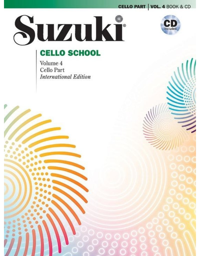 Alfred Suzuki Cello School Volume 4 Book and CD