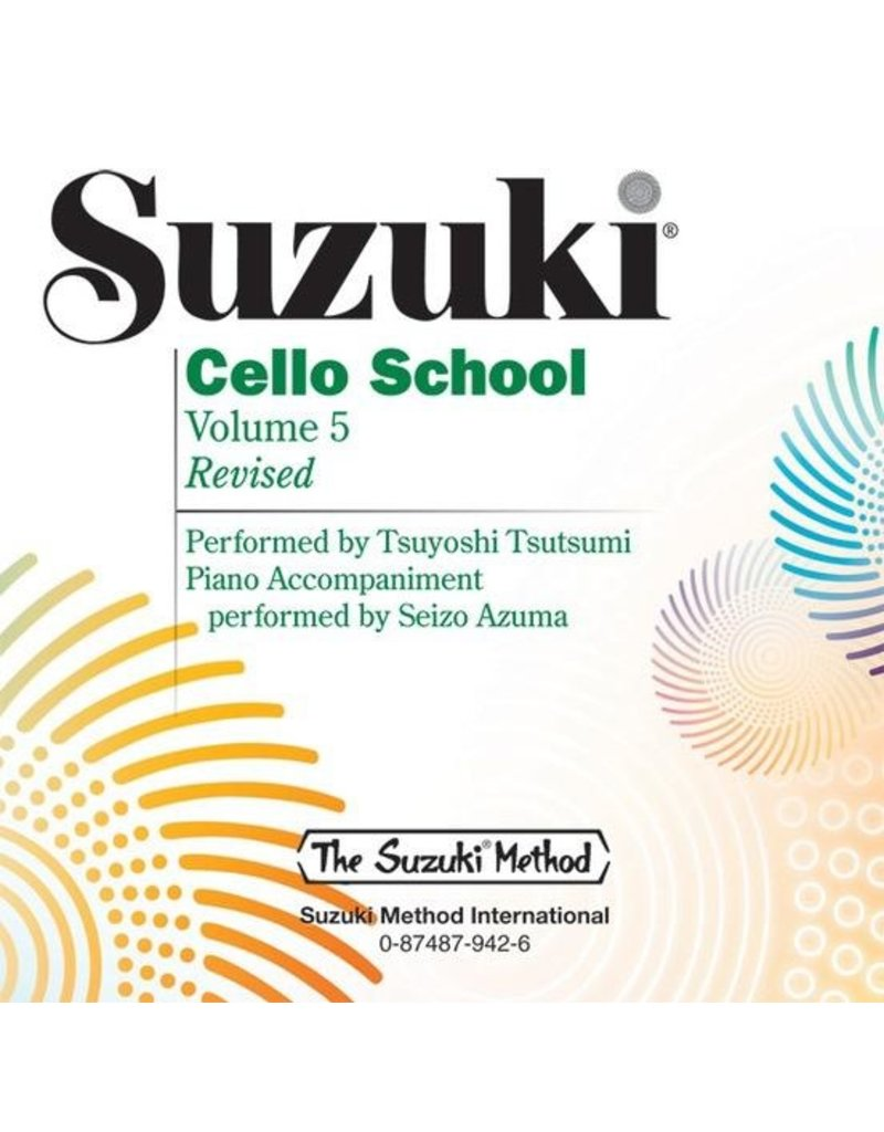 Alfred Suzuki Cello School, Volume 5 CD Performed By Tsuyoshi Tsutsumi