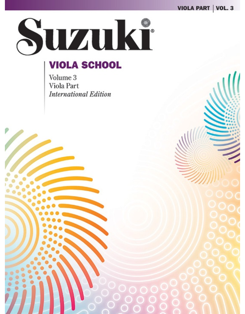 Alfred Suzuki Viola School Volume 3 Book and CD