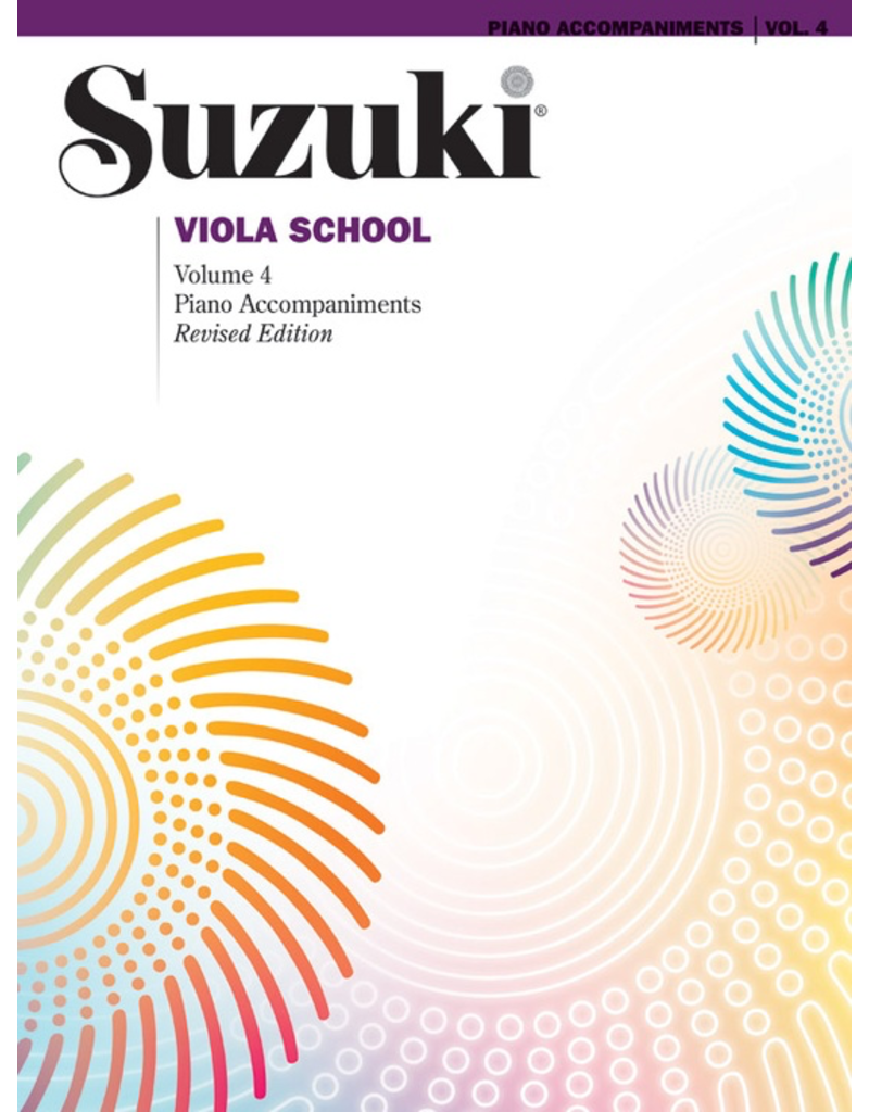 Alfred Suzuki Viola School Volume 4 Piano Accompaniment