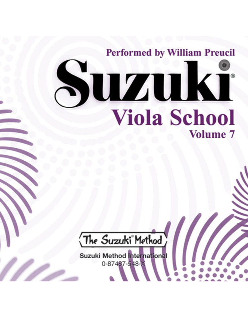 Alfred Suzuki Viola School CD, Volume 7