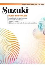 Alfred Suzuki Violin School Volumes 1-3 Duets 2nd Violin Parts