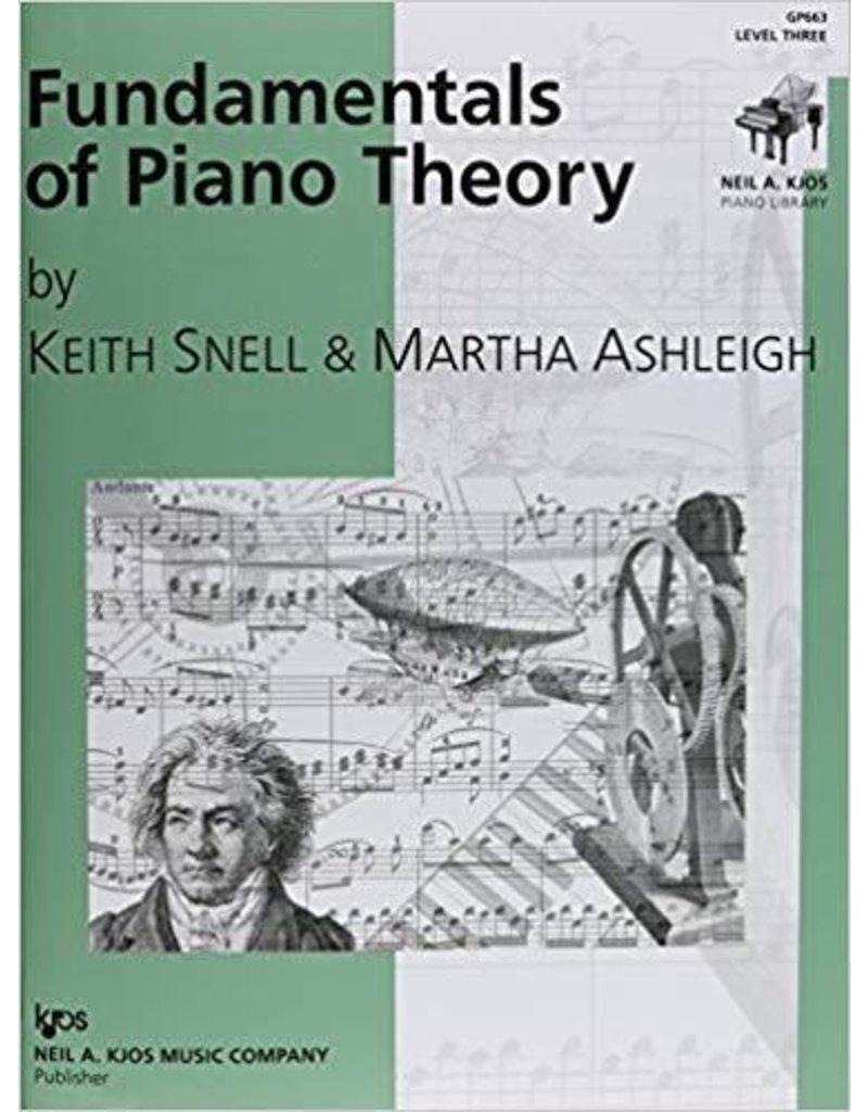 Kjos Fundamentals of Piano Theory, Level 3 Keith Snell