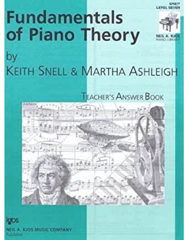 Kjos Fundamentals of Piano Theory, Level 7 Answer Book