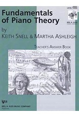 Kjos Fundamentals of Piano Theory, Level 3 Answer Book