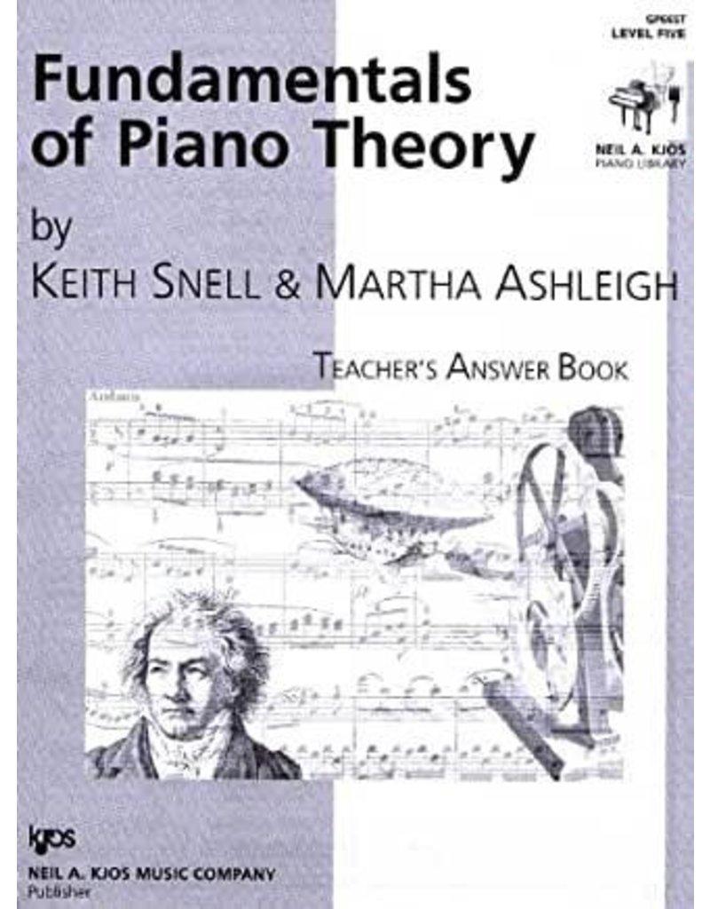 Kjos Fundamentals of Piano Theory, Level 5 Answer Book