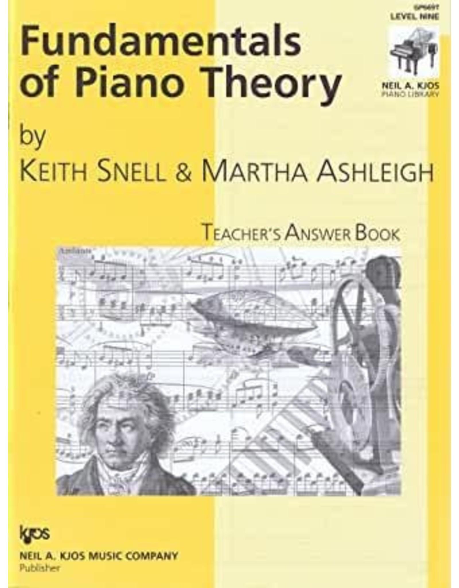 Kjos Fundamentals of Piano Theory, Level 9 Answer Book