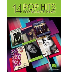 Hal Leonard 14 Pop Hits for Big Note Piano
