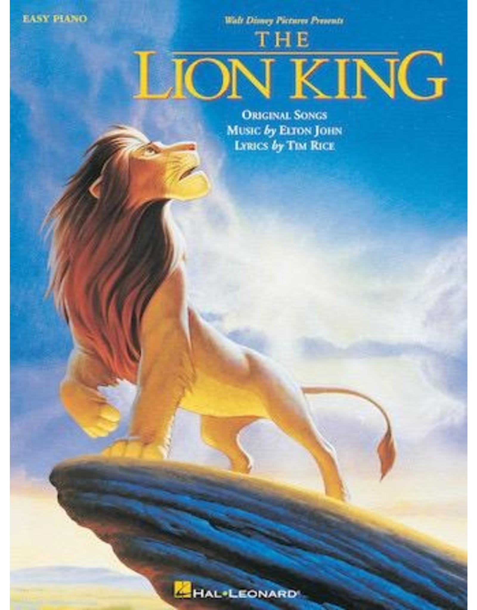 Hal Leonard Lion King Easy Piano (Animated Movie)