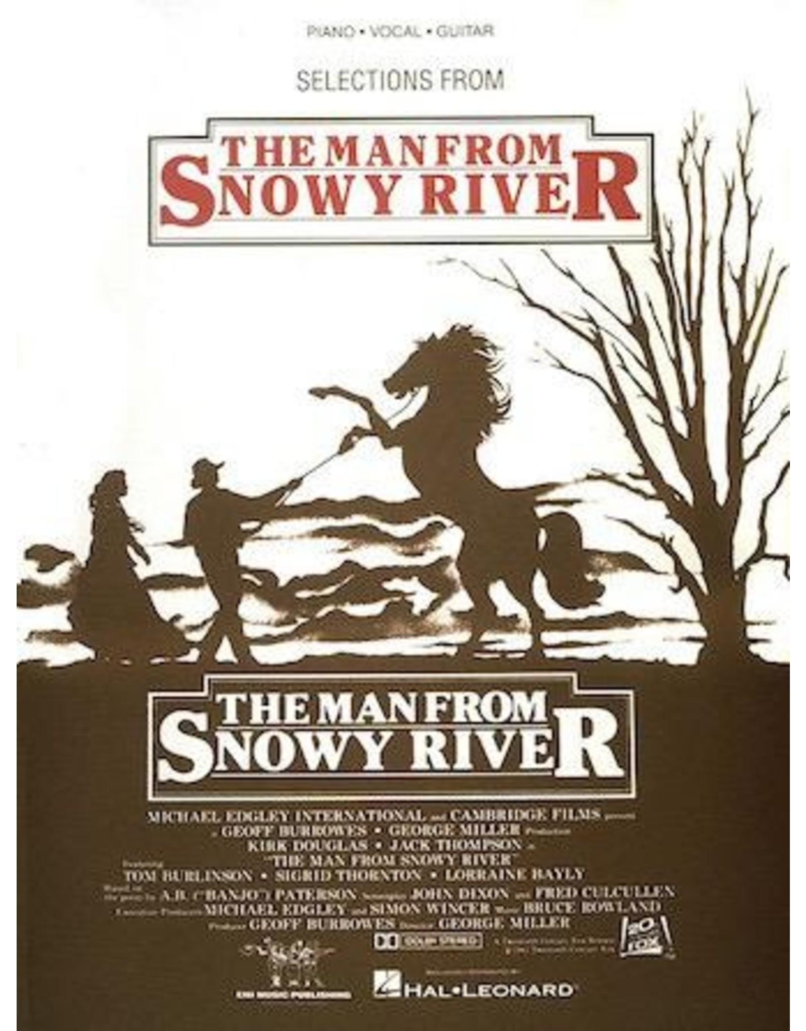 Hal Leonard Man From Snowy River Selections by Bruce Rowland PVG