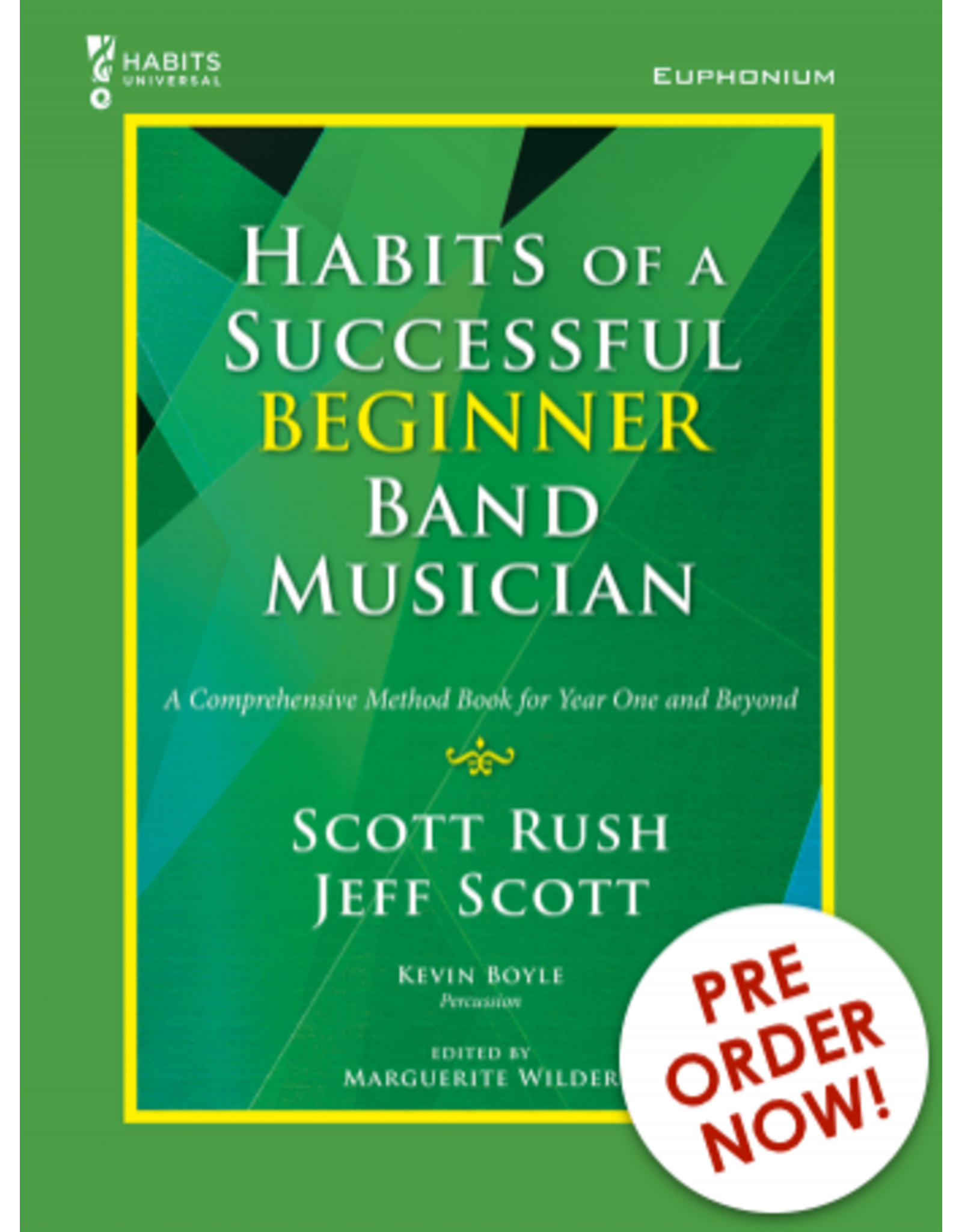 GIA Publications Habits of a Successful Beginner Band Musician Euphonium BC