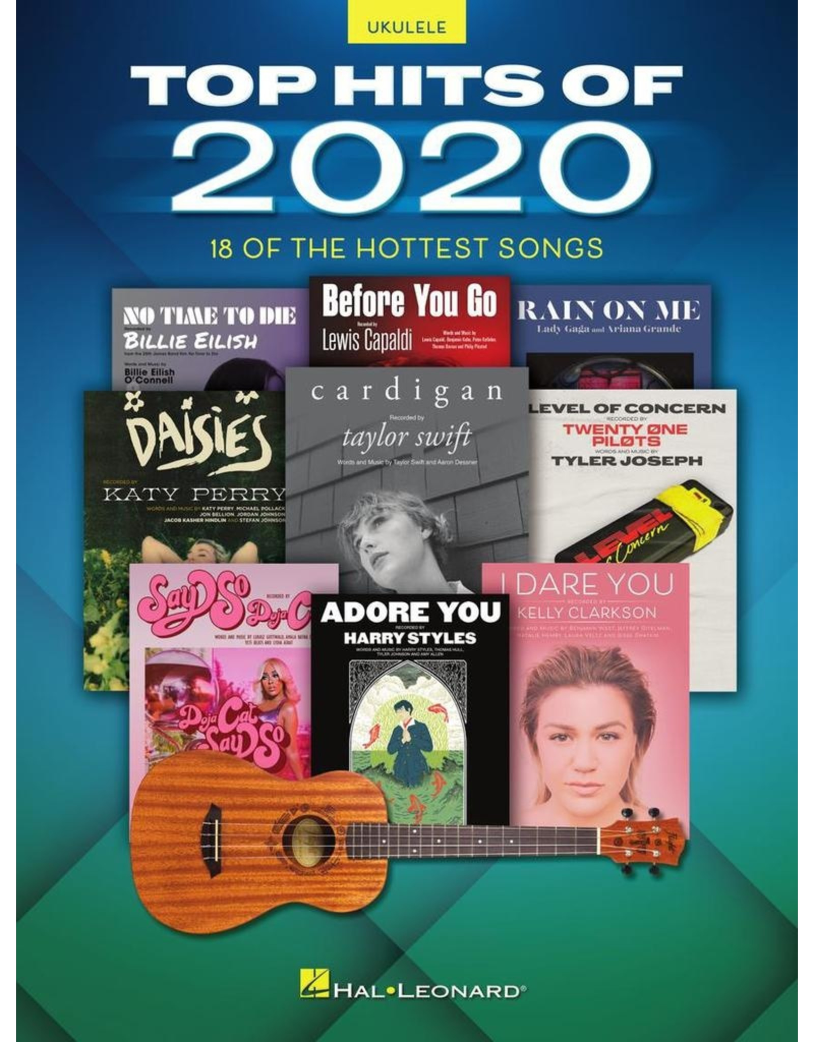 Hal Leonard Top Hits of 2020 for Ukulele - 18 of the Hottest Songs