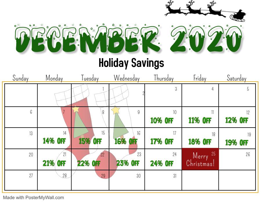 Calendar of Savings