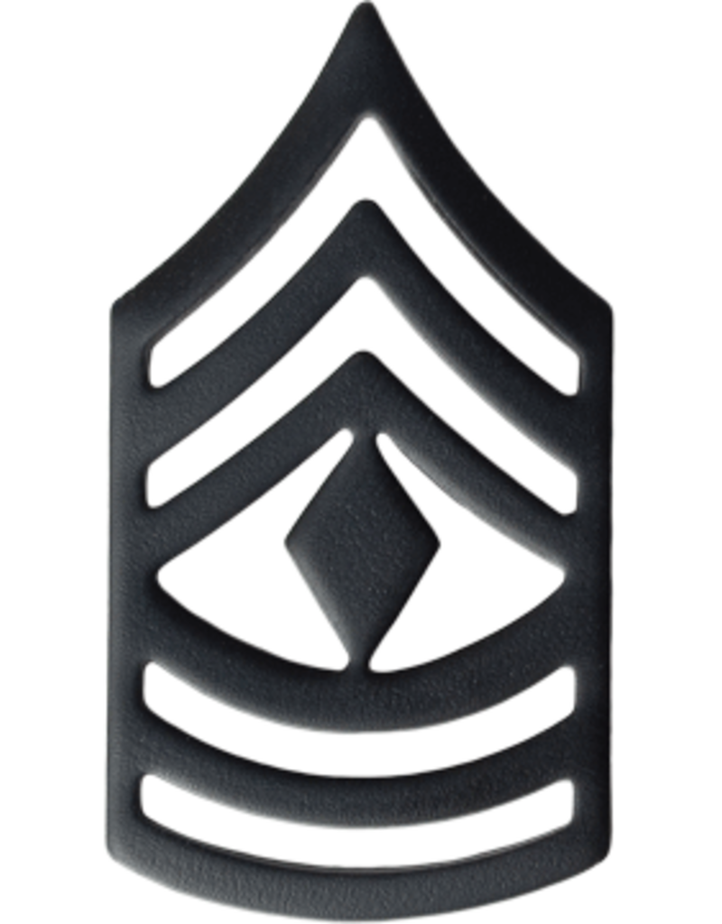 Black Chevron Pin On Rank