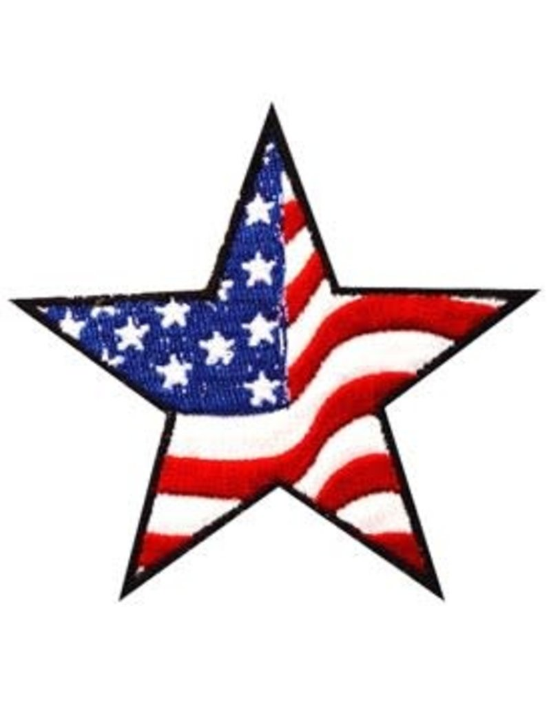Patch - Flag USA Stars*Stripes Wavy