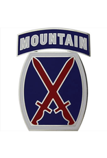 10th Mountain Dress Blue ID Badge