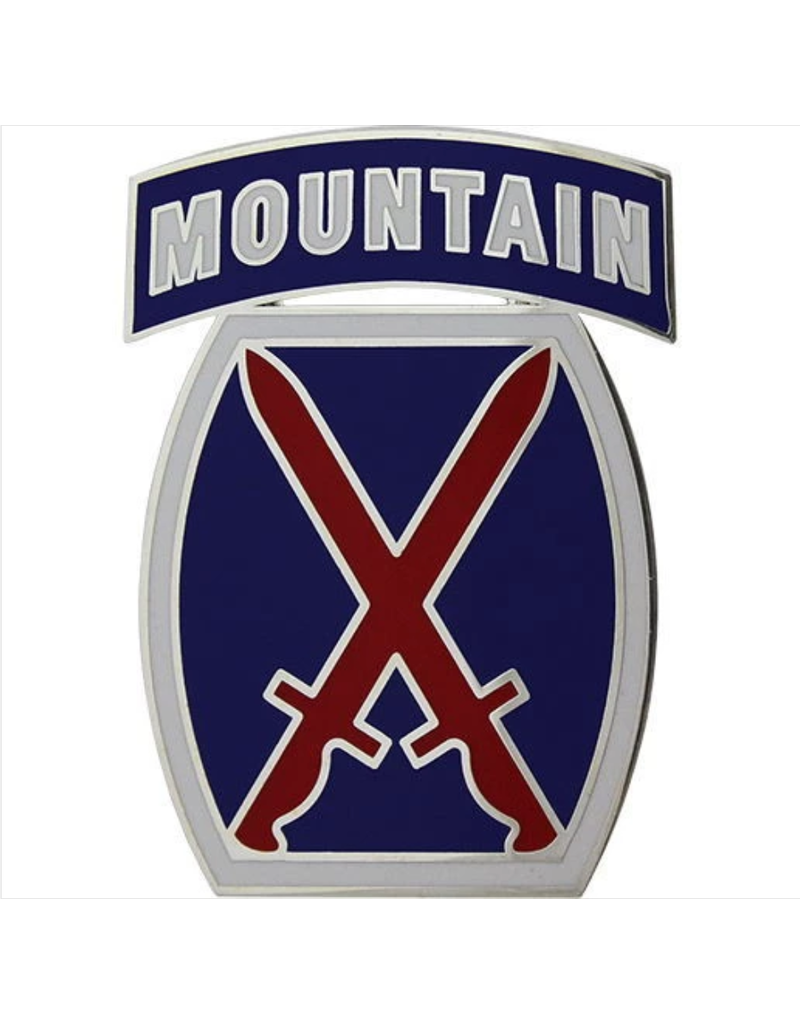 10th Mountain Dress Blue ID Badge
