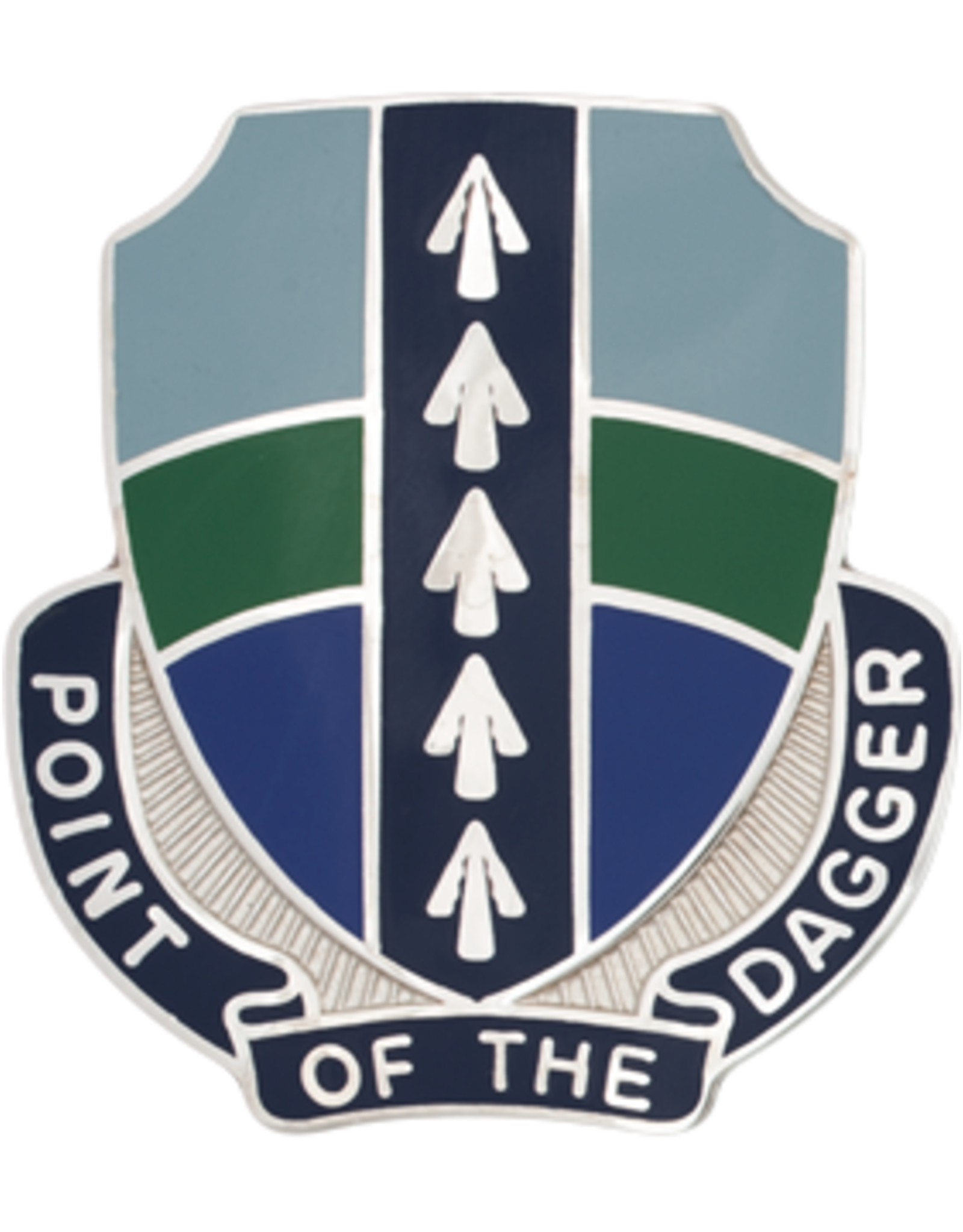 2nd Brigade 1st Infantry Special Troops Unit Crest - Point of the Dagger